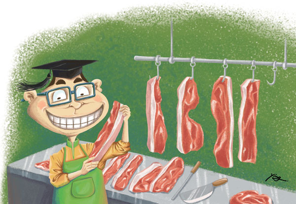 Careers on butcher's chopping block