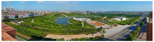 鸟瞰长春世界雕塑公园2