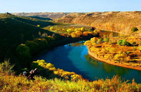 鄂尔多斯乌审旗萨拉乌苏国家地质公园