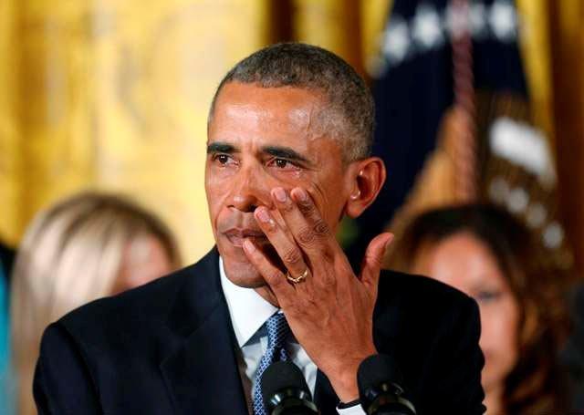 资料图:流泪的总统