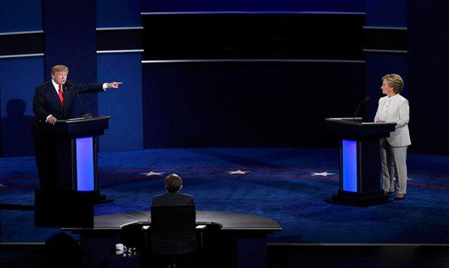 2016年美国大选第三次辩论现场