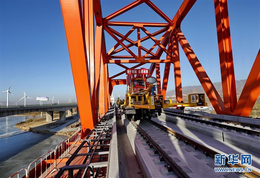 (经济)(4)京张高铁官厅水库特大桥铺轨