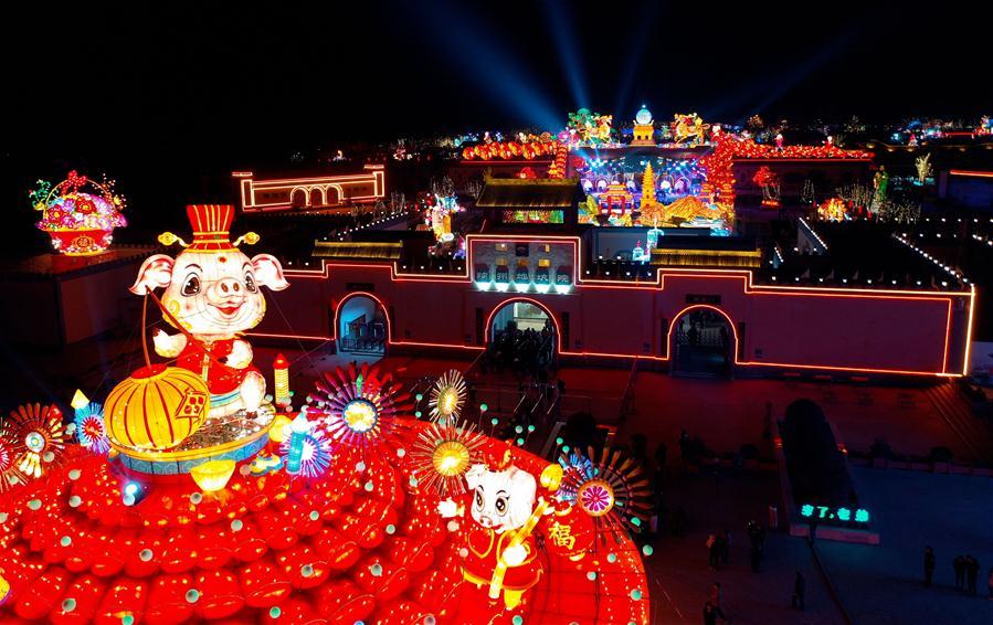 (文化)(1)灯耀陕州迎新年