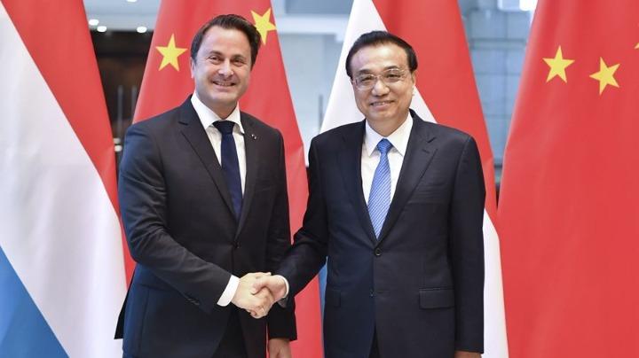 李克强会见卢森堡首相贝泰尔
