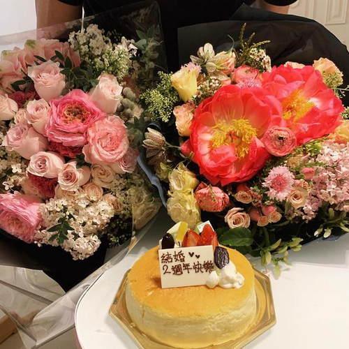 方媛晒网友照庆祝v网友2周年套包纷纷留言祝贺情蛋糕表组路图图片