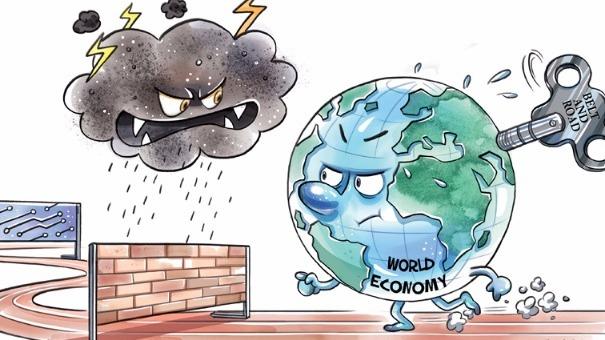 中国日报漫画:跨栏