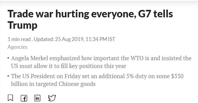 【中国那些事儿】特朗普G7峰会被孤立?外媒:多国领导人呼吁其尽快停止贸易战