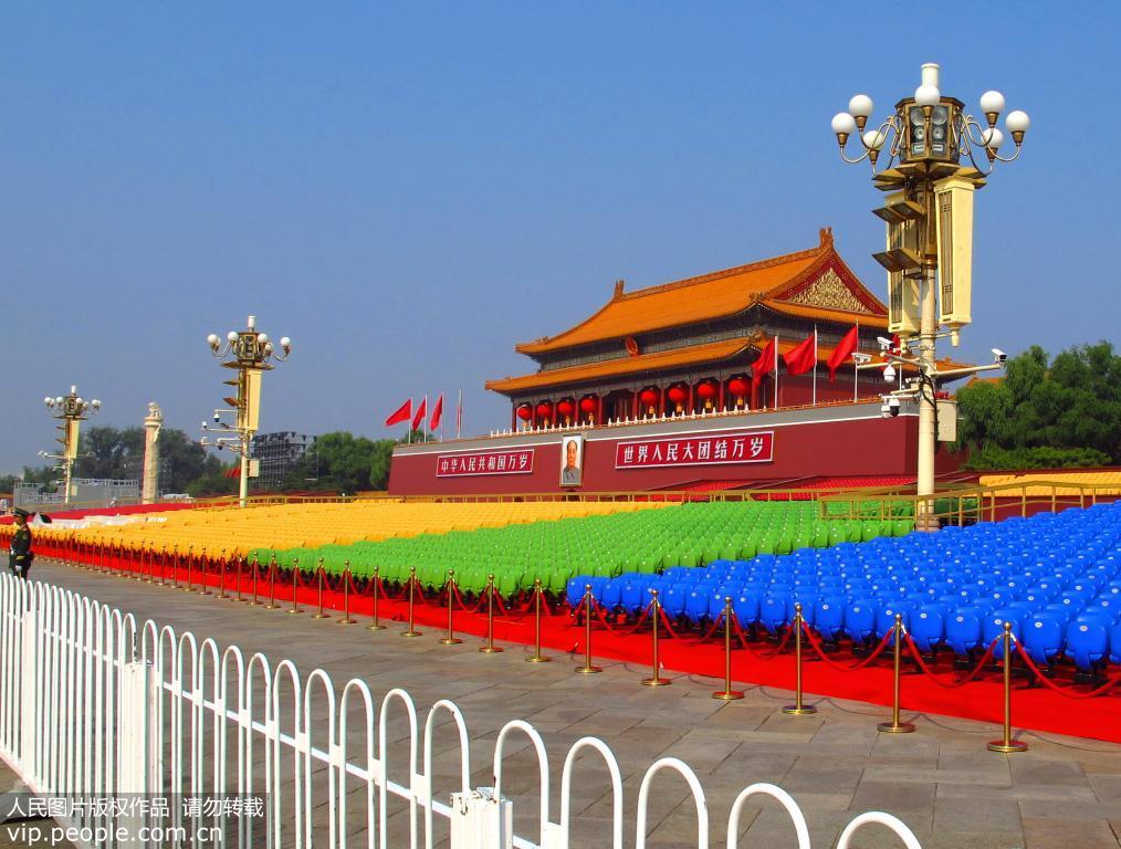 天安门广场盛装迎接国庆70周年