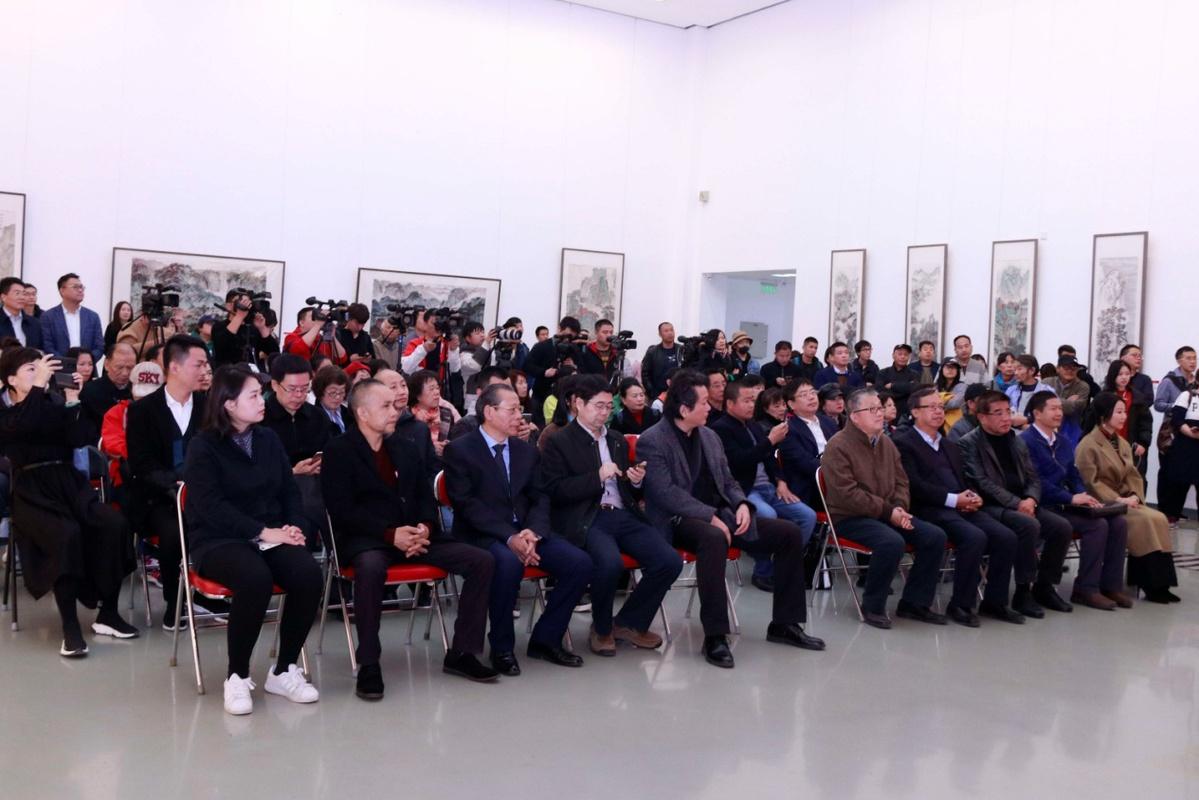 大美河山李蝉羽山水画艺术展在中国背影国家美术馆举行小学生卡通画院图片