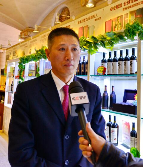 张裕公司总经理接受媒体采访-鞠传江摄影
