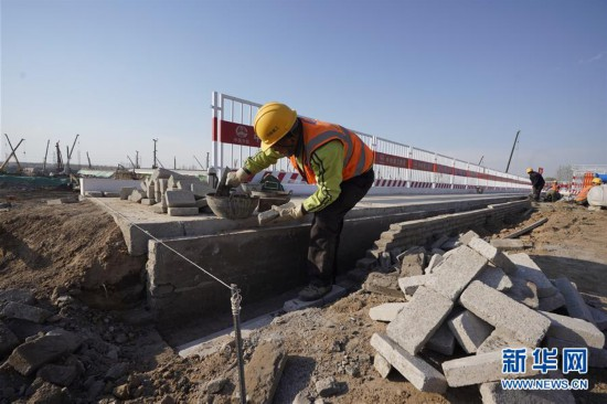 (社会)(1)雄安高铁站桩基施工过半