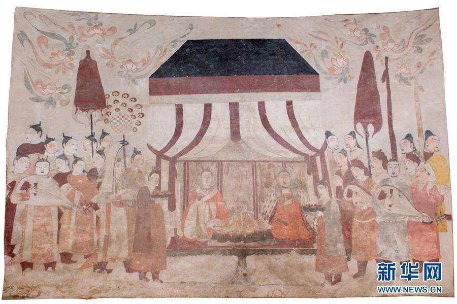 """北齐墓葬壁画乘""""云""""露真容"""
