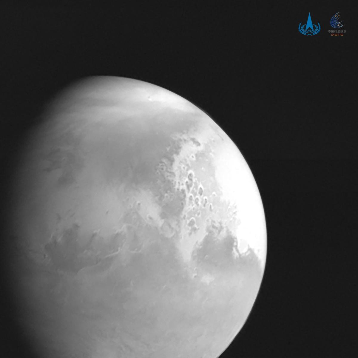 天问一号完成第四次轨道中途修正 传回首幅火星图像