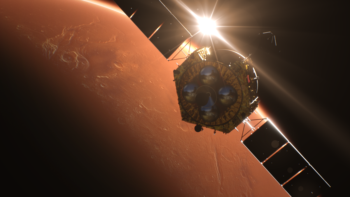 天问一号探测器成功实施火星捕获
